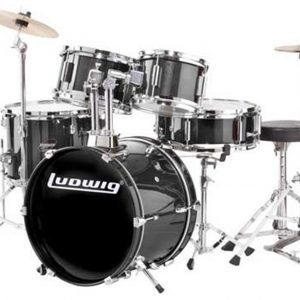 Ludwig LJR106 Junior Drum Set Black